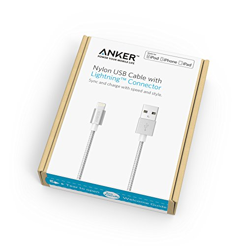 Apple-MFi-Certified-Anker-3ft-09m-Nylon-Braided-Tangle-Free-Lightning-to-USB-Cable-with-Aluminum-Connector-Heads-for-iPhone-iPod-and-iPad-Silver-0-2
